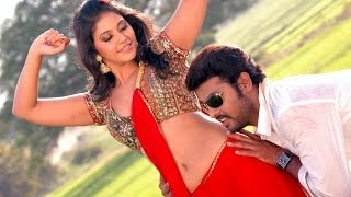 Anjali Hot Navel Show In Red Saree