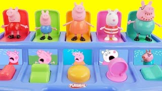 Peppa a Pig School Bus Pop Up Surprise Toy Bunny, Paw Patrol, Frozen Mashems Fashems SparkleSpice