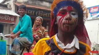 Funny street entertainner/bahurupi in bengali