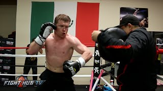 Canelo vs. Khan video- Canelo Alvarez's COMPLETE Workout for Amir Khan