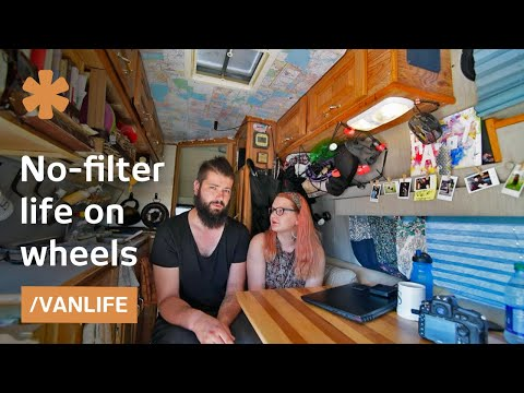 vanlife with no filter couple records work life on wheels