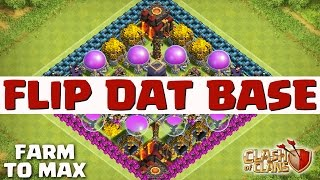 CLASH OF CLANS -  FAST & EPIC LOOT   Flip That Base Ep 34