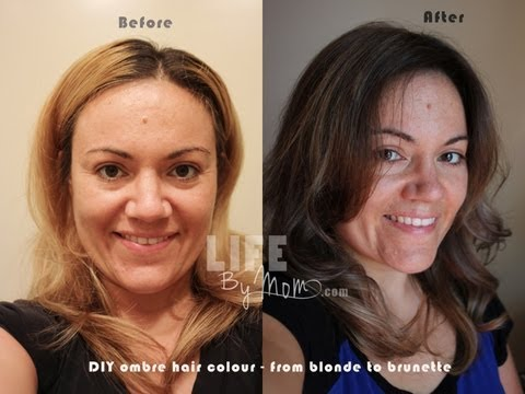 DIY Ombre Hair Blonde to Brunette Ombre Ombre from blonde blonde hair to ombre