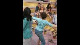 Jackie, Sarah and Maz dancing to Ashiki at Monika and Bob's handfasting, June 2012