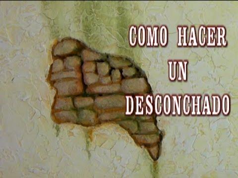 DIY PARED DE PIEDRA CON DESCONCHADO CHIPPED THE WALLS OF HOUSES IN CRIBS HEBREW