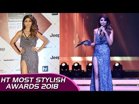 Xxx Mp4 Shilpa Shetty HOT Thigh Show Thigh High Slit Dress At HT Stylish Awards 2018 3gp Sex