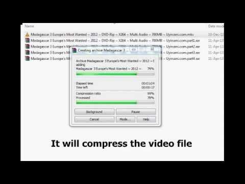 How to rar a file ( Video or any file) using WINRAR