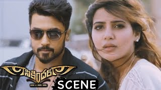 Samantha Follows And Proposes Surya - Love Scene - Latest Telugu Movie Scenes