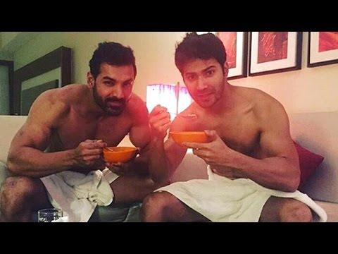 Xxx Mp4 John Abraham Amp Varun Dhawan Post Pics In Towel For Dishoom Promotions 3gp Sex