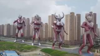 Ultraman menari lagu RAYA