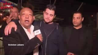 أمير دندن لحظة وصوله فلسطين عائدا من لبنان بعد  مشاركته  في برنامج Arab Idol