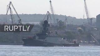 Rússia: corvetas de mísseis russas partem de Sevastopol para costa síria