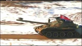 KCTV - North Korea Military Exercise Live Firing 2015 [480p]