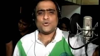 Popular Bollywood singer Kunal Ganjawala at a music recording