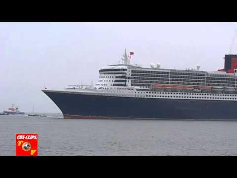 Cuxhaven Queen Mary 2 passiert die ALTE LIEBE
