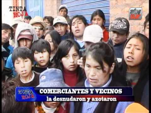 DESNUDAN Y LINCHAN A MUJER EN JULIACA TINTA ROJA AREQUIPA
