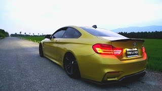BMW M4 Brutal Revs and Tunnel Sound w/Armytrix iPhone App Variable Exhaust