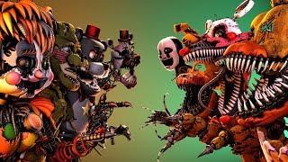 [SFM FNAF] Ultimate Custom Night SALVAGE ANIMATRONICS VS HALLOWEEN ANIMATRONICS (Original) Animation
