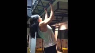 Macho femme fitness chin ups!