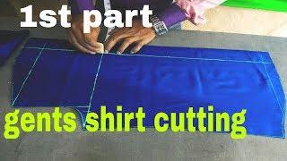 Men's shirt cutting /Gents shirt (DIY) easily men full hand /sleeve /baju shirt cutting  ( part --1)