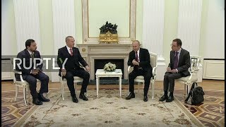 LIVE: Putin and Erdogan bilateral meeting in Moscow: protocol (ORI)