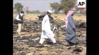 India - Aftermath of air crash