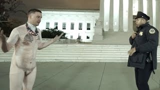 Naked Guy Streaking Capitol Prank