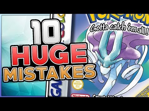 10 HUGE Mistakes & Glitches In Pokemon Crystal (Generation 2)