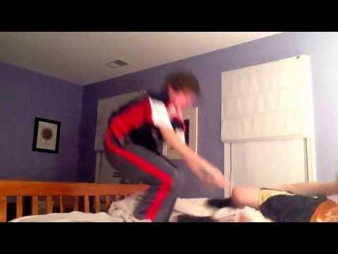 Bed wrestling match 3