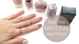 BEST Chic Neutral Nail Polishes // Top 5 // Rachael Jade