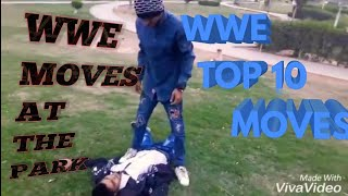 WWE MOVES AT THE PARK  ALI VINEZ  BY WAQAX ALI IN TEAM