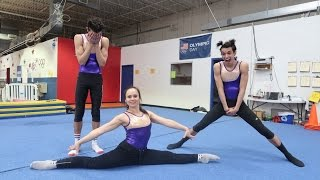 OUR MOM TEACHES US GYMNASTICS!