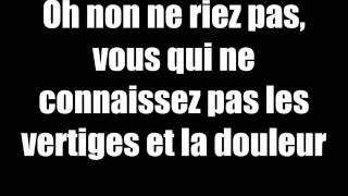 Indila   Tourner dans le vide   lyrics(paroles)