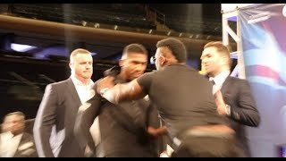 HEAVYWEIGHT BEEF! - JARRELL BIG BABY MILLER SHOVES ANTHONY JOSHUA AS TEMPERS FLARE IN NEW YORK!