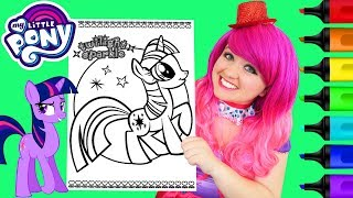 Coloring My Little Pony Twilight Sparkle Coloring Page Prismacolor Paint Markers | KiMMi THE CLOWN
