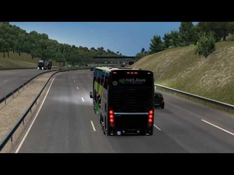Euro Truck Simulator 2 Bus trip to Bern with Busscar Busstar DD 6x2