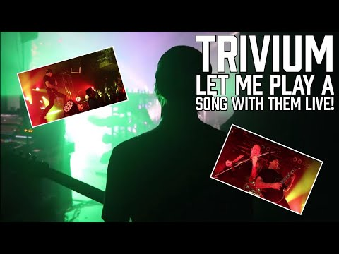 Trivium let me play a song with them LIVE!! (Tour vlog pt. 2)