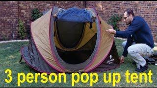 Cape Union Mart 3 person pop up tent - reviewed.