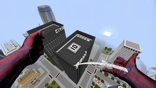 REALISTIC MINECRAFT ~ SPIDERMAN SAVES SPIDERGIRL