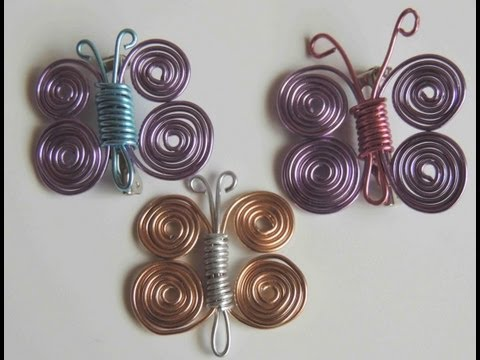 Como hacer una mariposa con alambre. Butterfly wire.