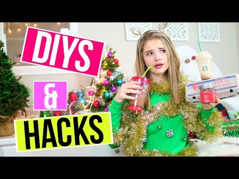 TESTING CRAZY HOLIDAY DIYS AND LIFE HACKS!