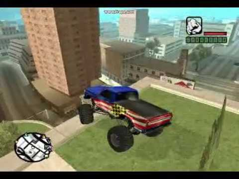 Gta sa Stunts Crashes And explosions 2 WOOP WOOP