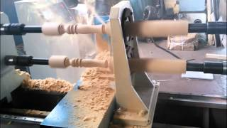 HITECH Wood CNC Lathe Machine, Egypt Wood Turning CNC Machine, Double heads Wood CNC Lathe
