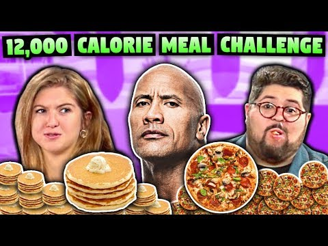 We Tried The Rock s 12 000 Calorie Cheat Meal Challenge
