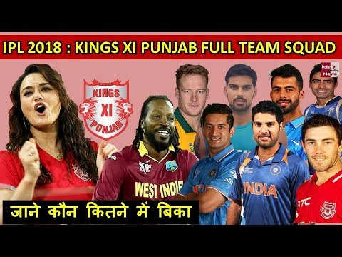 Xxx Mp4 IPL 2018 Kings XI Punjab Full Team Squad After Auction 2018 List Of All Players 3gp Sex