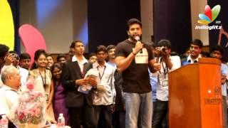Jayam Ravi at SSN College Instincts | Aadhi Bhagavan