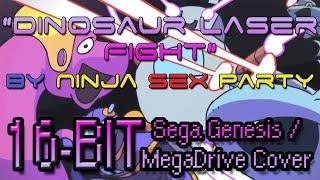 Dinosaur Laser Fight - NSP (16-BIT Sega Genesis / Mega Drive Cover)