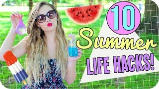 10 Summer Life Hacks you NEED to try!!