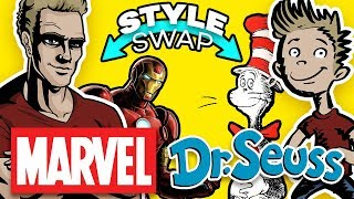 MARVEL COMICS ⇄ DR. SEUSS - Style Swap Art Challenge!