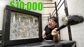 $10,000 IF YOU CAN BREAK THIS!! (UNBREAKABLE GLASS CHALLENGE)